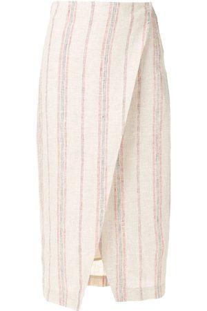 OSKLEN Senhora Vestidos Midi - Naute wrap linen midi dress