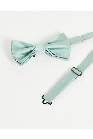 Gianni Feraud Plain satin bow tie-Green