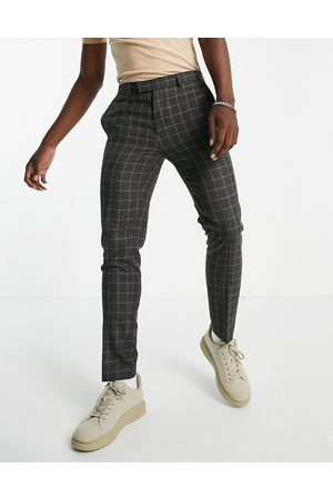 River Island Skinny check trousers in grey