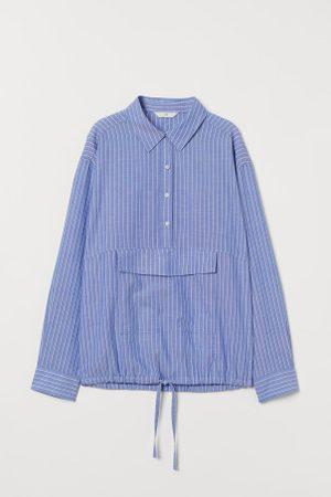 H&M Camisa com cordão de ajuste