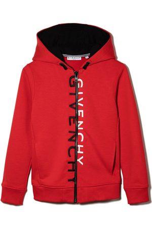 Givenchy Kids Menino Camisolas com capuz - Split logo zipped hoodie