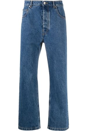 Opening Ceremony Logo-embroidered straight-leg jeans