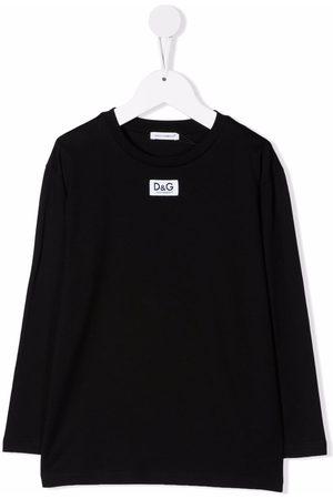 Dolce & Gabbana Kids Logo-patch long-sleeve T-shirt