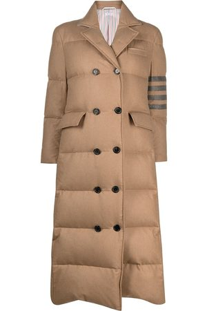 Thom Browne 4-Bar padded double-breasted coat
