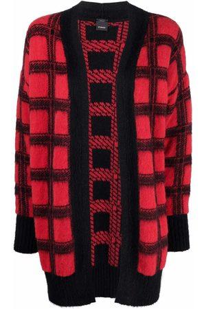 Pinko Check-print long-sleeved cardigan