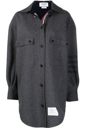 Thom Browne 4-Bar supersized Melton shirt