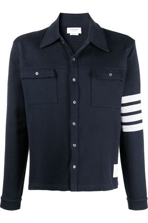 Thom Browne 4-Bar buttoned shirt jacket