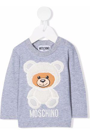 Moschino Kids Bebé T-shirts & Manga Curta - Teddy bear patch T-shirt