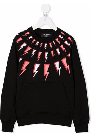 Neil Barrett Kids Thunderbolt-print sweatshirt