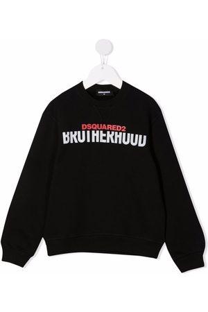 Dsquared2 Kids Menino Camisolas com capuz - Logo-print cotton sweatshirt