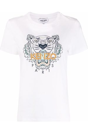 Kenzo Tiger-print short-sleeved T-shirt