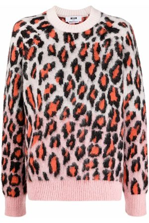Msgm Leopard-print knitted jumper