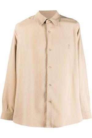 Ami Homem Formal - Embroidered Ami De Coeur shirt