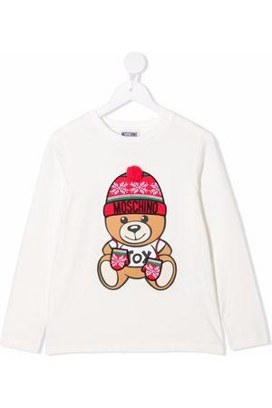 Moschino Kids Teddy bear-motif long-sleeved T-Shirt