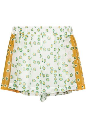 Silvia Tcherassi Hibiscus polka dot pleated shorts