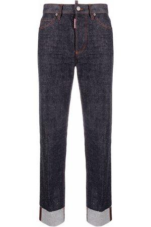 Dsquared2 High-waist logo print jeans