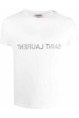 Saint Laurent Reverse logo-print T-shirt