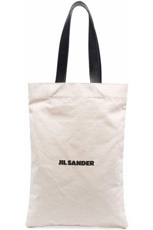 Jil Sander Large logo-print tote bag