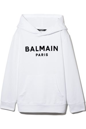 Balmain Kids Menina Camisolas com capuz - Logo print hooded sweatshirt
