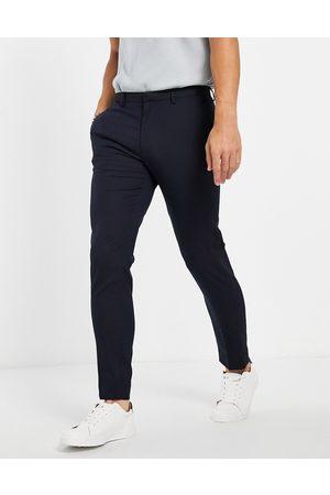 Burton Menswear Homem Calças Justas - Burton Essential stretch skinny fit suit trousers in navy