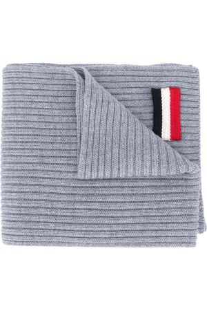Moncler Homem Cachecóis & Echarpes - Tricolour patch scarf