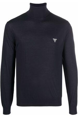 Prada Embroidered-logo long-sleeve top