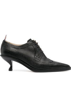 Thom Browne Senhora Plataformas - Longwing brogues with sculpted heel