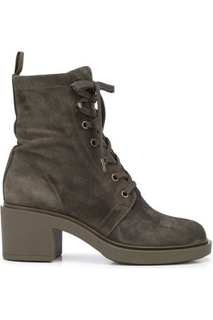 Gianvito Rossi Senhora Botins - Lace-up suede ankle boots