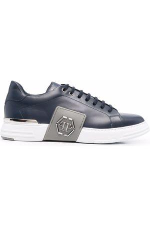 Philipp Plein Homem Tops & T-shirts - Phantom Platinum Lo-Top sneakers