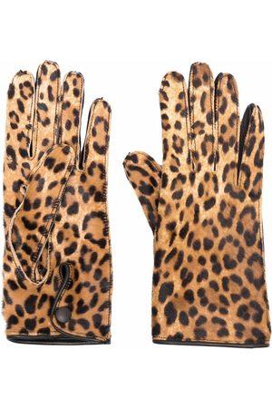 Maison Margiela Senhora Luvas - Leopard-print gloves