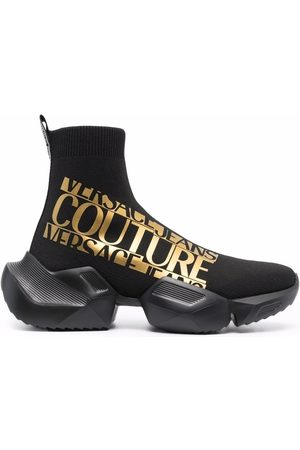 VERSACE Homem Meias - Logo-print sock trainers