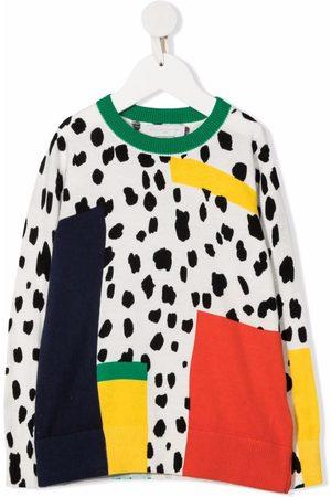 Stella McCartney Menina Camisolas com capuz - Dalmatian Spots-print organic cotton-blend sweatshirt