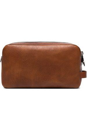 Brunello Cucinelli Homem Nécessaires - Leather wash bag
