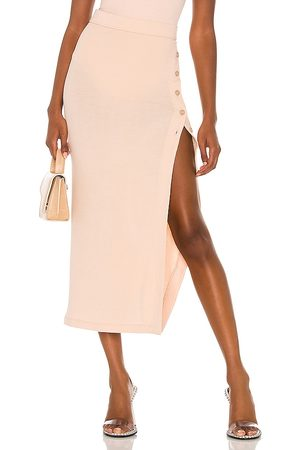 Alix NYC Fordham Skirt in - Nude. Size L (also in XS, S, M).