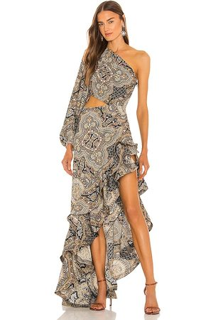 Bronx and Banco Paisley Gown in - Beige. Size L (also in XS, S, M).