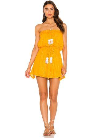 sundress Anoushka Short Dress in - Tangerine. Size M-L (also in XS-S).