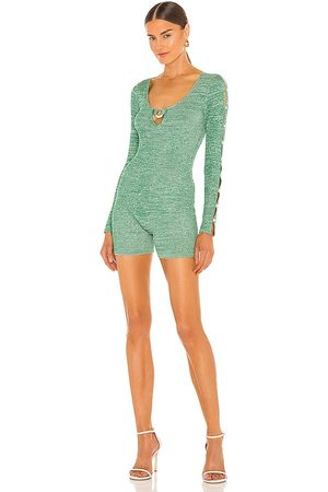 AYA MUSE Agate Romper in - Green. Size L (also in XS, S, M).