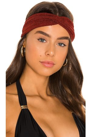 Hunza G Nile Headband in - Burgundy. Size all.