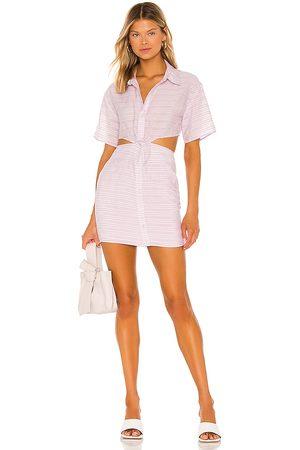 Lovers + Friends Corrin Mini Dress in - Lavender. Size L (also in XXS, XS, S, M, XL).