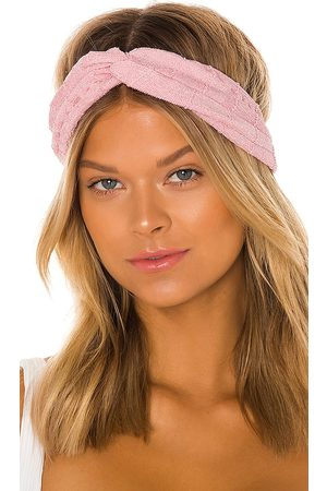 Hunza G Nile Headband in - Pink. Size all.