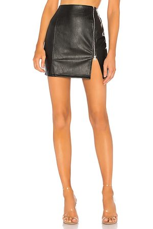superdown Melissa Zip Up Faux Leather Mini Skirt in - . Size M (also in XXS, XS, S, XL).