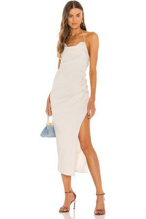 Camila Coelho Leahla Midi Dress in - Neutral. Size L (also in XXS, XS, S, M, XL).