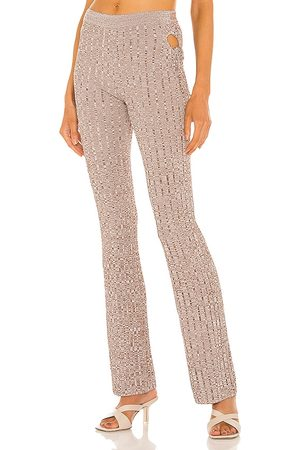 AYA MUSE Emzar Knit Pant in - Taupe. Size L (also in XS, S, M).