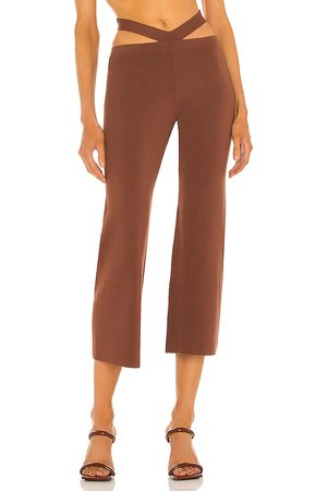 RONNY KOBO Ceylin Knit Pant in - Chocolate. Size L (also in M, S, XS).