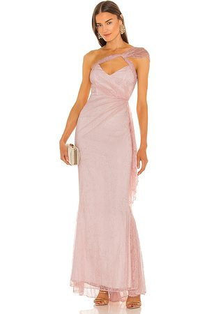 Michael Costello X REVOLVE Landon Gown in - Pink. Size L (also in M, S, XL, XS, XXS).