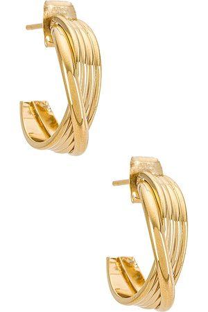 Cloverpost Lennon Earring in - Metallic Gold. Size all.