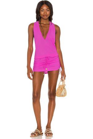 Luli Fama X REVOLVE Cosita Buena T Back Mini Dress in - Purple. Size L (also in XS, S, M).