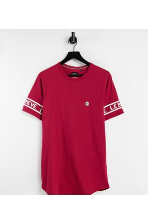 Le Breve Tall lounge co-ord t-shirt in red