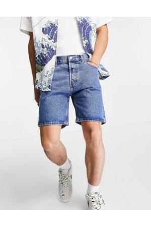 Weekday Homem Calções - Vacant shorts in harper blue