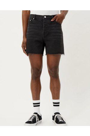 Weekday Draught denim shorts in washed black